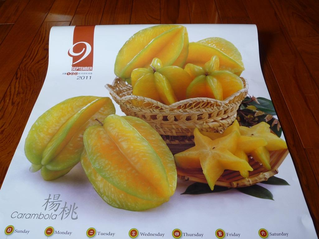 カレンダーで見る台湾のフルーツ