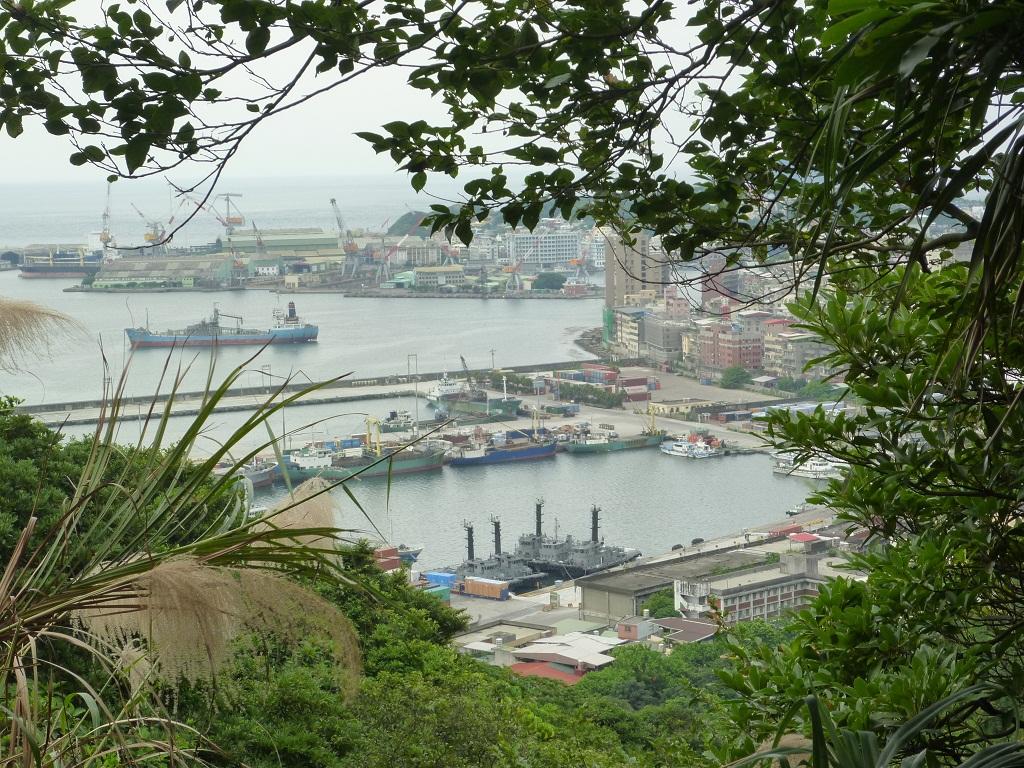 海門天険から見る基隆の港