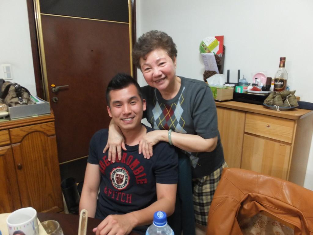 息子に見る台湾若者の礼儀